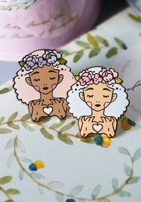 Love and Dolls pin